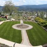 backyard synthetic turf view