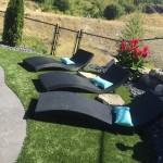 Backyard poolside turf
