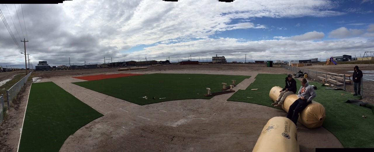 Arviat-baseball-field-progress