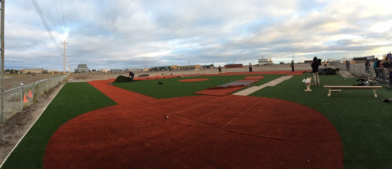 Nunavut-baseball-synthetic-field-progress-1