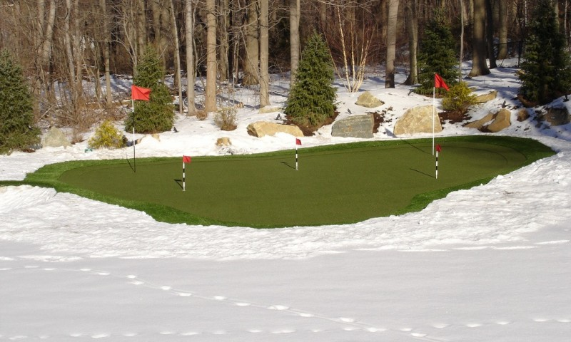 Winter Putting Green