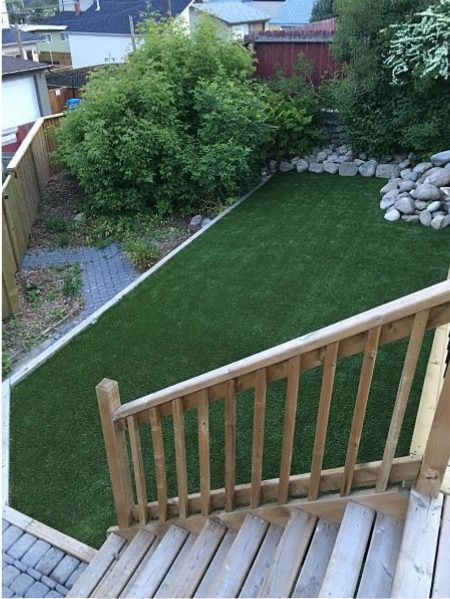 synthetic turf backyard