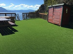Artificial Grass Project at Lakefront Cabin
