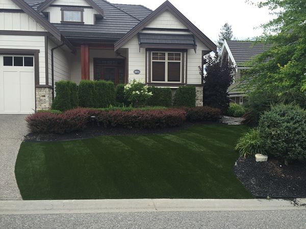 Front Yard Gets Synthetic Turf Makeover