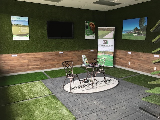 synthetic turf showroom