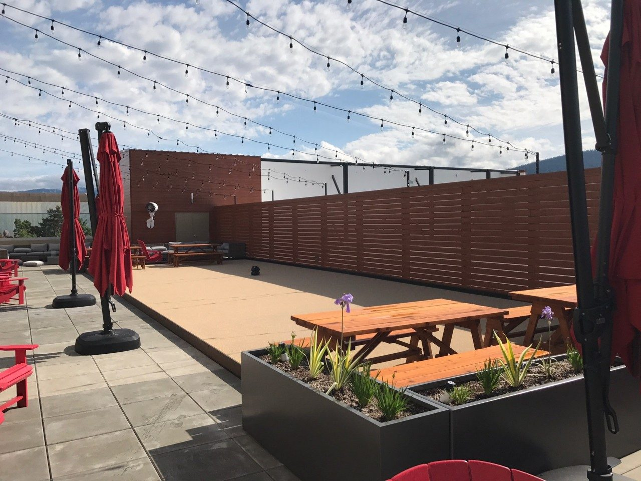 Rooftop Patio Synthetic Turf Bocce Court