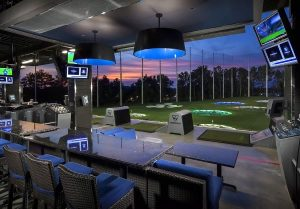 synthetic turf indoor driving range