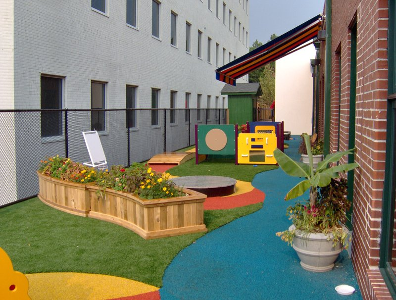 Artificial Grass & Turf | Synthetic Turf International | Playground Turf Solution Outside