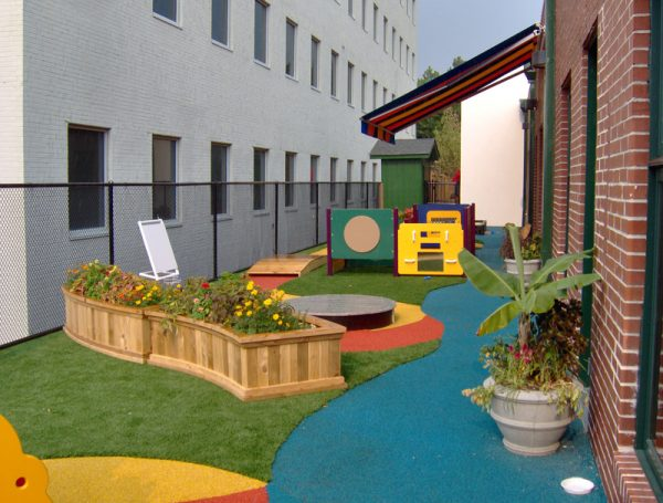 artificial turf playground