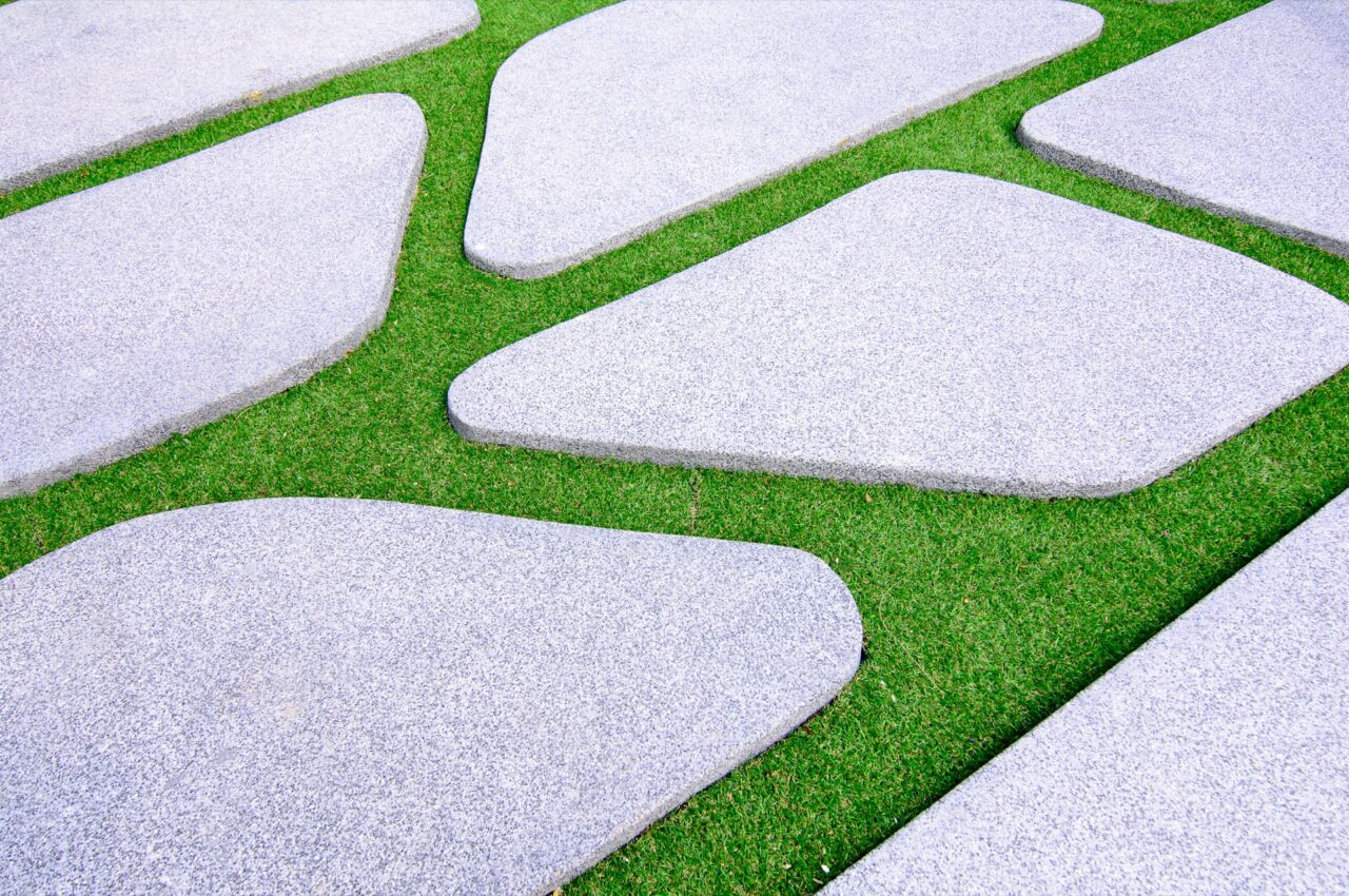 Newly cared for artificial grass